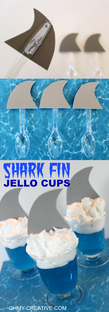 Shark-Fin-Jell-O-Cups-for-shark-or-summer-theme-party